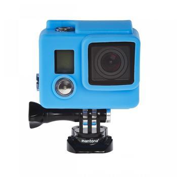 Mantona Silikon Schutzhüllen Set GoPro Hero 43+