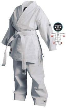 Adidas Karateanzug Junior Doppelgröße weiß Gr. 150/160