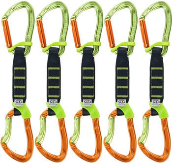 Climbing Technology Nimble EVO Pro NY 12 cm 5er Pack Express-Set (12cm, orange-green)