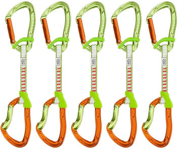 Climbing Technology Nimble EVO DY 12cm 5er Pack Express Set (12cm, orange-green)