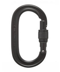 Black Diamond Oval Screwgate (Black)