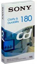 """Sony 1 Pack E180 Clarity & Durability """"CD"""" VHS Tape"""