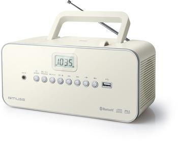 Muse M-30BTN CD-Radio USB BT AUX Weiss