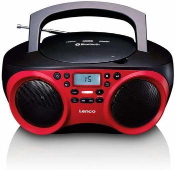 Lenco UKW CD-Radio SCD-501 AUX, Bluetooth®, CD, UKW, USB Rot, Schwarz