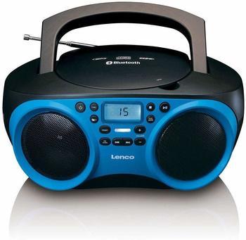 Lenco SCD-501 AUX, Bluetooth®, CD, UKW, USB Blau, Schwarz