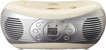 Lenco Tragbares FM Radio mit CD-Player SCD-12 natur