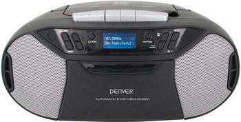 Denver TDC-250 DAB+ CD-Radio AUX, CD, Kassette, UKW, USB Schwarz