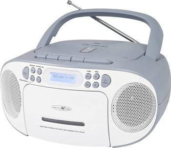 Reflexion CD-Radio DAB+, UKW, DAB AUX, CD, DAB+, Kassette, UKW, USB Weiß, Blau