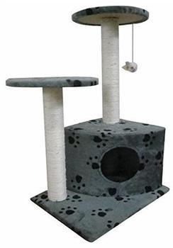 vidaXL Kratzbaum 70 cm grau/Pfotenmuster