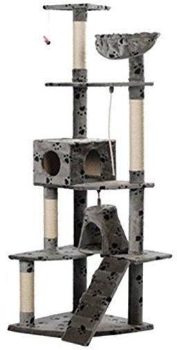 vidaXL Kratzbaum 91 x 70 x 191 cm grautatze