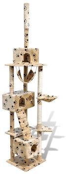 vidaxl-katzenkratzbaum-kletterbaum-220-240cm-beige-pfotenabdruck