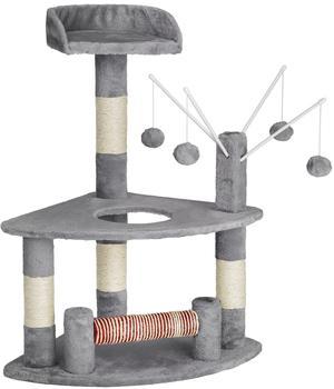 Tectake Kratzbaum Katzenkratzbaum Katzenbaum Spielbaum in grau