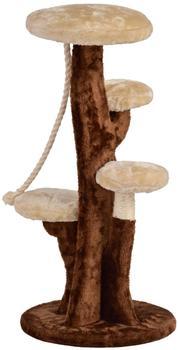 Silvio Design Katzenbaum Albero klein 35x35x75cm braun beige Plüsch Spielbaum Kletterbaum