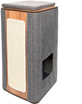 Vesper Kratztonne Cubo Tower grau