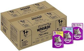 Whiskas 1+ Fisch und Geflügelauswahl in Gelee 84 x 100g