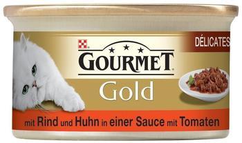Gourmet Gold Délicatesse en Sauce Rind & Huhn (85 g)