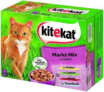 Kitekat Portionsbeutel 12-er Markt-Mix in Gelee (12 x 100 g)