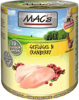 MACs Geflügel & Cranberry 6 x 800 g