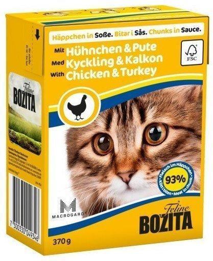 Bozita Feline Häppchen in Sauce Hühnchen & Pute (370 g)