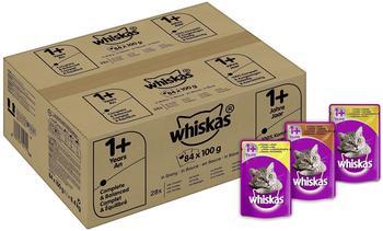 Whiskas 1+ Geflügelauswahl in Sauce 84 x 100 g