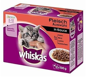 Whiskas Junior Fleischauswahl in Sauce 4 x 12 x 100 g