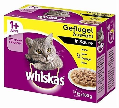 Whiskas 1+ Geflügelauswahl in Sauce 12 x 100 g