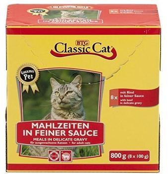 Classic Cat Mahlzeit in feiner Sauce mit Rind 8 x 8 x 100g Pouchbeutel