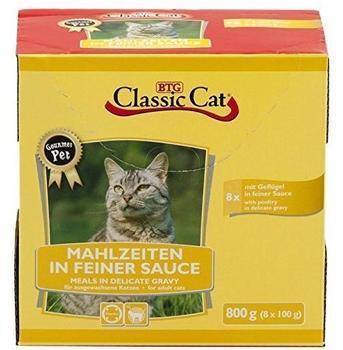 Classic Cat Mahlzeit in feiner Sauce mit Geflügel | 64x100g Nassfutter