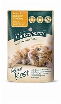 Allco Christopherus Feine Kost Sterilisierte Katze Geflügel mit Reis 12 x 85 g
