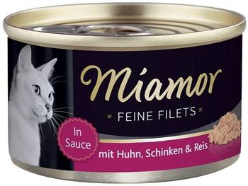 Miamor Feine Filets Heller Thunfisch & Shrimps 100g