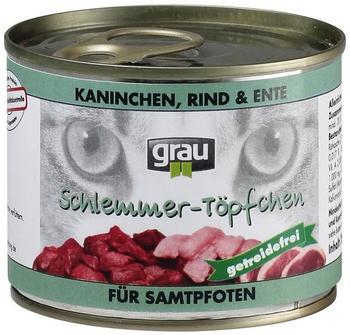 Grau Schlemmertöpfchen Kaninchen, Rind & Ente (200 g)