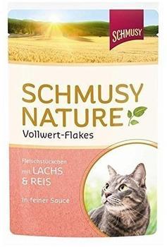Schmusy Vollwert Flakes Lachs & Reis 100g
