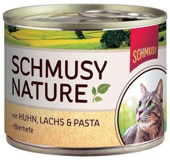 Schmusy Natures Menü Kitten Lachs & Lamm (190 g)