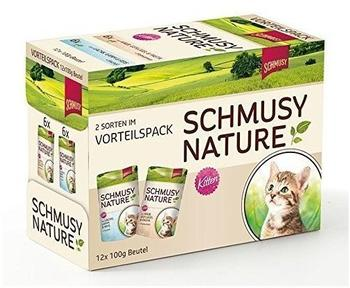 SCHMUSY Multibox Nature Kitten 2 Sorten gemischt 12 x 100 g