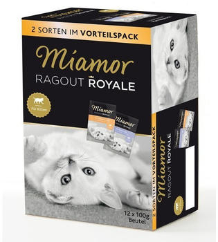 Miamor Ragout Royale in Jelly Multibox Kitten: 2 Sorten 12x100g