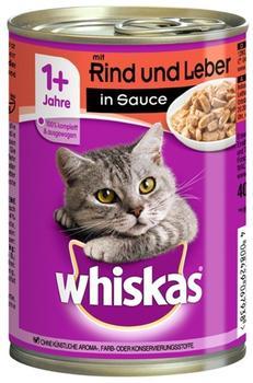 Whiskas 1+ mit Rind & Leber in Sauce 12 x 400 g