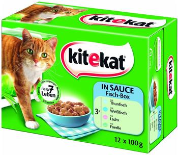 Kitekat Fisch-Box in Sauce (12x 100g)