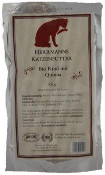 Herrmanns Hundefutter Bio-Menü Katzenfutter Rind mit Quinoa (85 g)