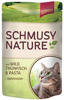 Schmusy Natures Menü Schale Wild, Thunfisch & Pasta 24 x 100 g