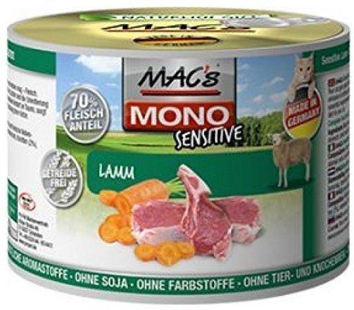 MACs Mono Sensitive Lamm 6 x 200 g