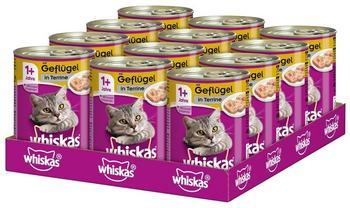 Whiskas 1+ mit Geflügel in Terrine 12 x 400 g