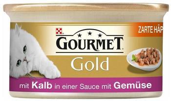 Gourmet Gold Zarte Häppchen in Sauce Kalb & Gemüse 12 x 85 g