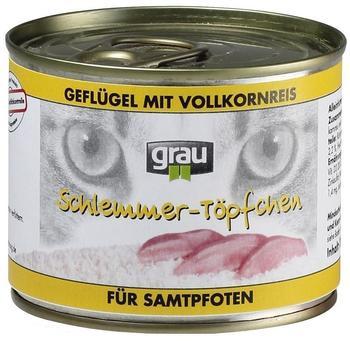 Grau Schlemmertöpfchen Geflügel mit Vollkornreis (200 g)