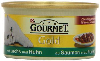 Gourmet Gold Zarte Häppchen in Sauce Lachs & Huhn (85 g)