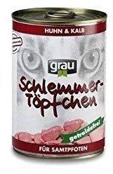 Grau Schlemmer-Töpfchen Huhn & Kalb 6 x 400 g