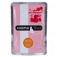 Cosma Thai Frischebeutel Hühnchen & Thunfisch 6 x 100 g