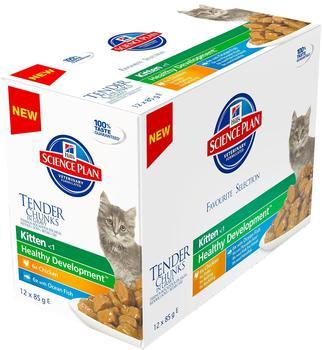 Hill's Feline Kitten Multipack Huhn & Seefisch (12x 85g)