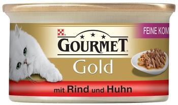 Gourmet Gold Feine Komposition Rind & Huhn (85 g)