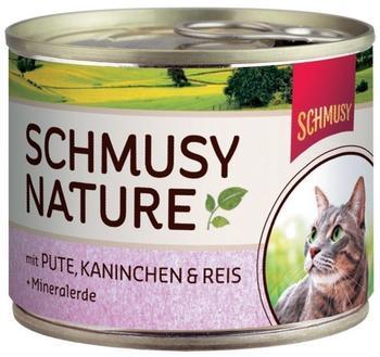 Schmusy Natures Menü Pute, Kaninchen & Reis 12 x 190 g