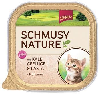 Schmusy Natures Menü Schale Kitten Kalb, Geflügel & Pasta 100 g